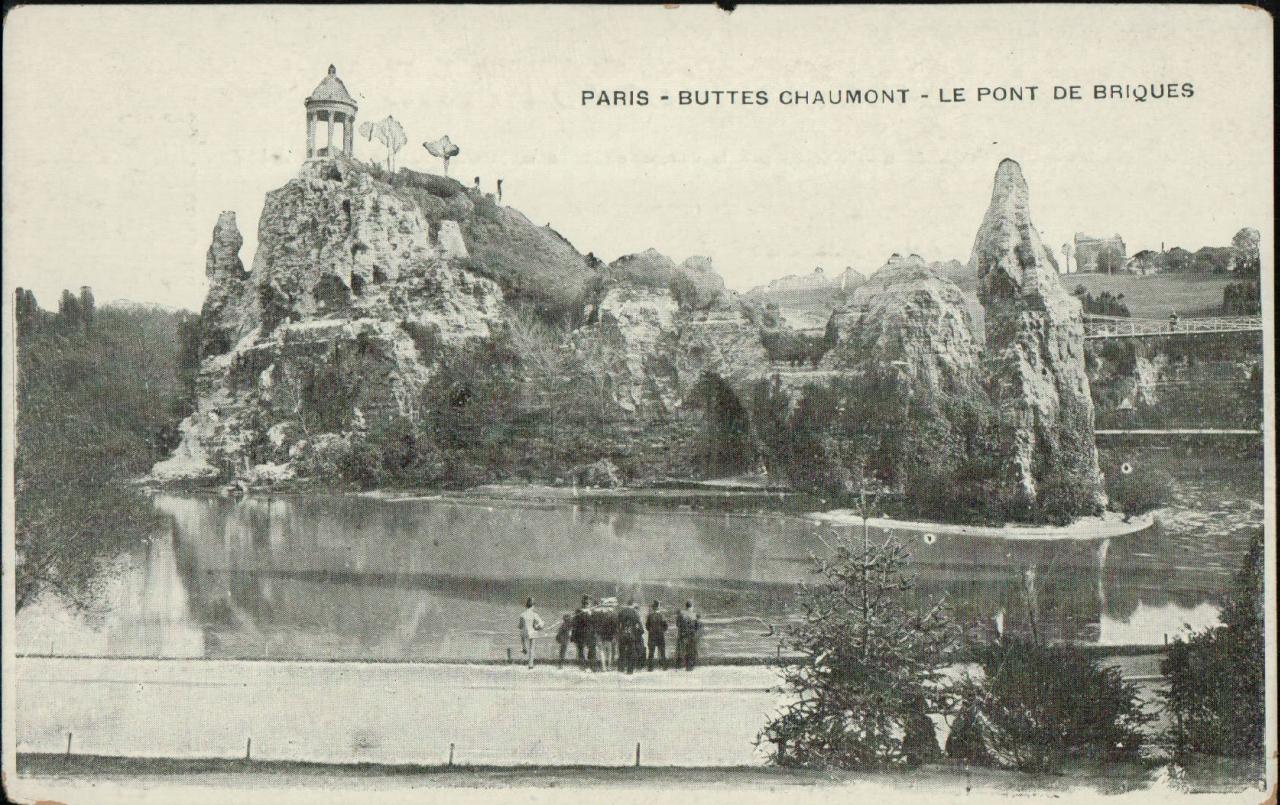 Carte Buttes Chaumont.Le Parc Des Buttes Chaumont Paris 1900