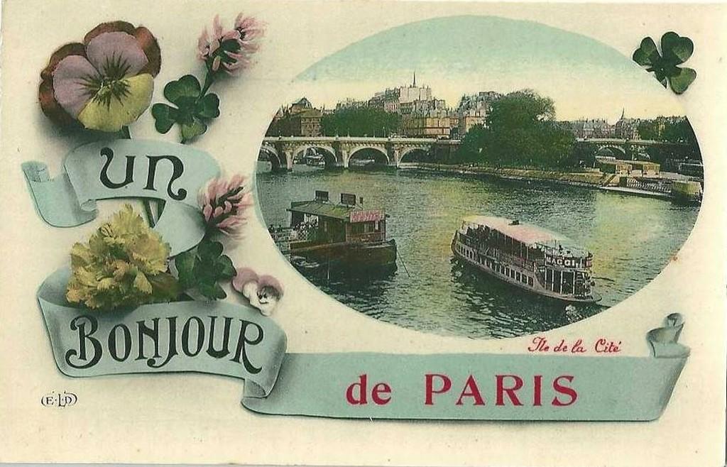 Envoyer une Carte postale. | Paris-1900