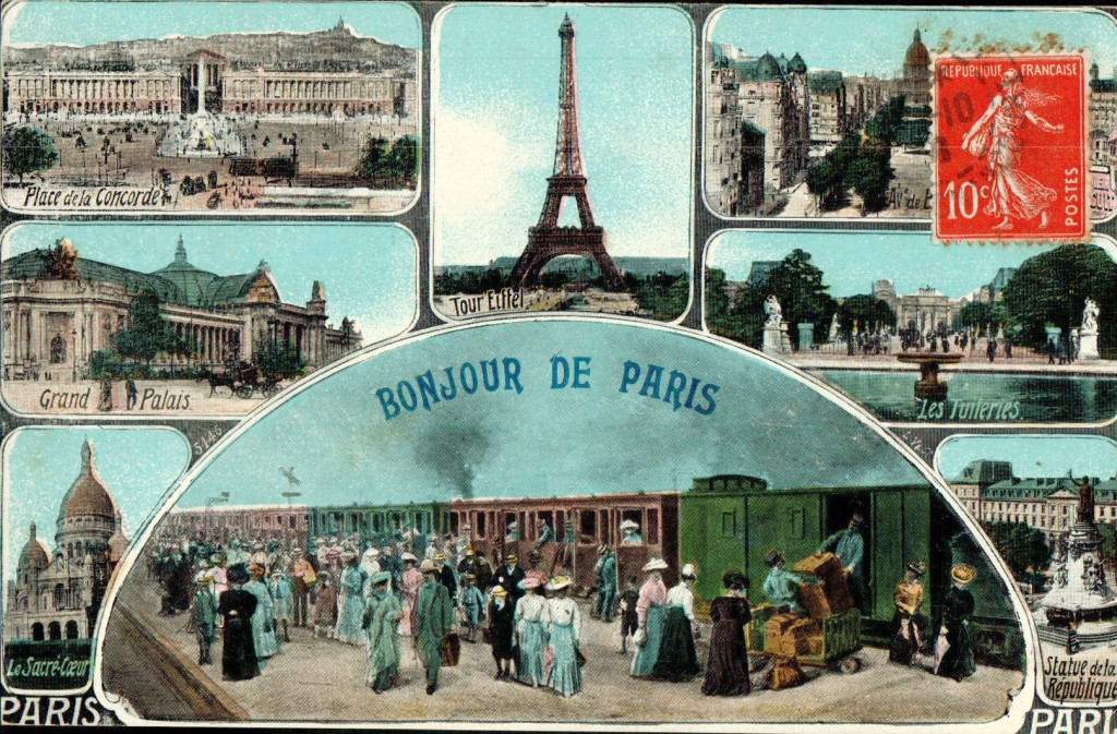 envoyer une carte postale paris 1900. Black Bedroom Furniture Sets. Home Design Ideas