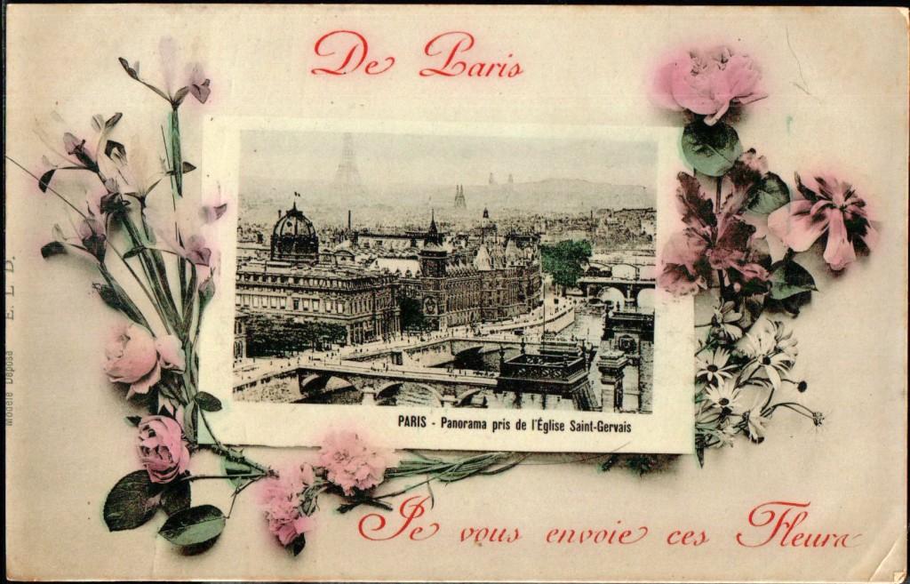 envoyer une carte postale paris 1900. Black Bedroom Furniture Sets. Home Design Ideas