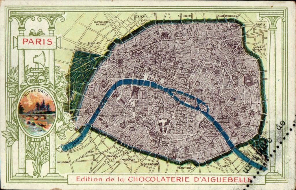Cartes postales anciennes de Paris sur Paris 1900.