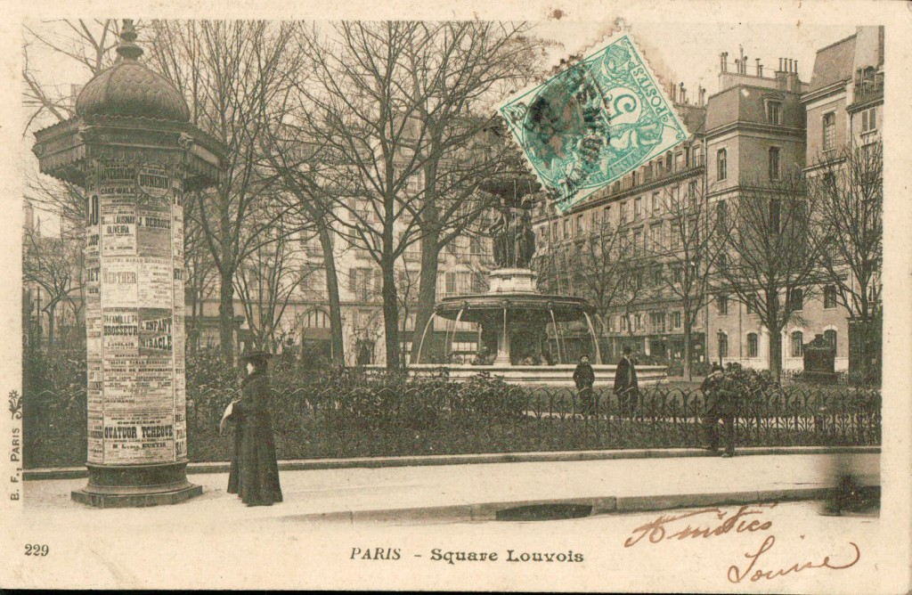 Colonne Morris au Square Louvois.