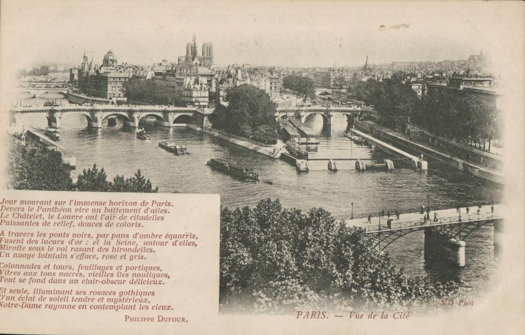 Carte postale Paris - Vue de l'Ile de la Cité.