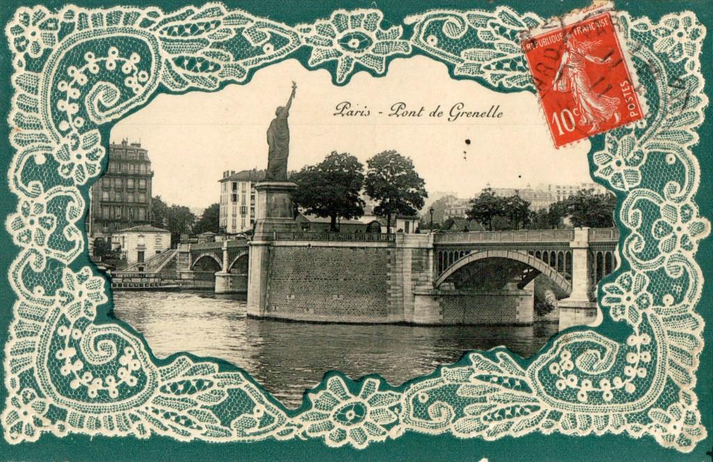 Carte postale de Paris - Le pont de Grenelle..