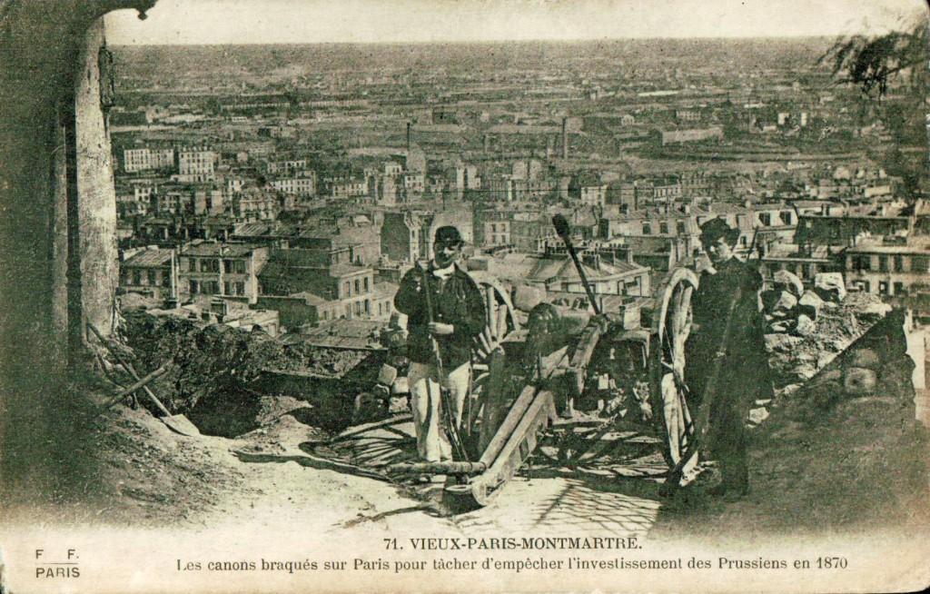 Les canons de Montmarte en 1871.
