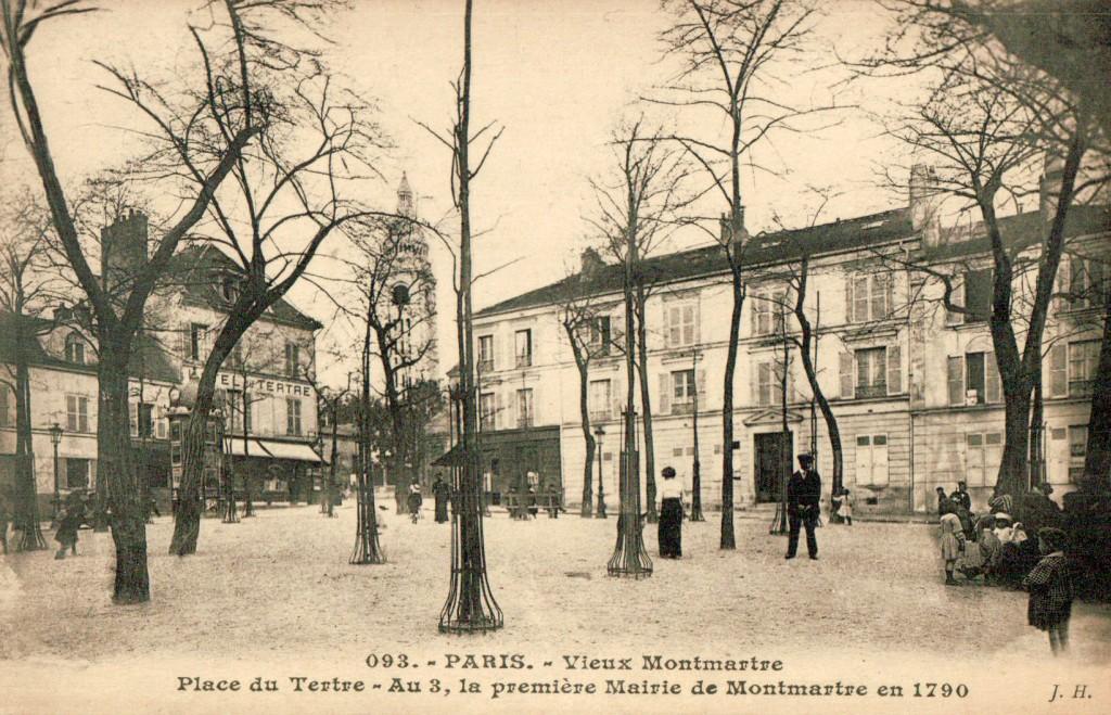 Carte postale de la place du Tertre à Montmartre.