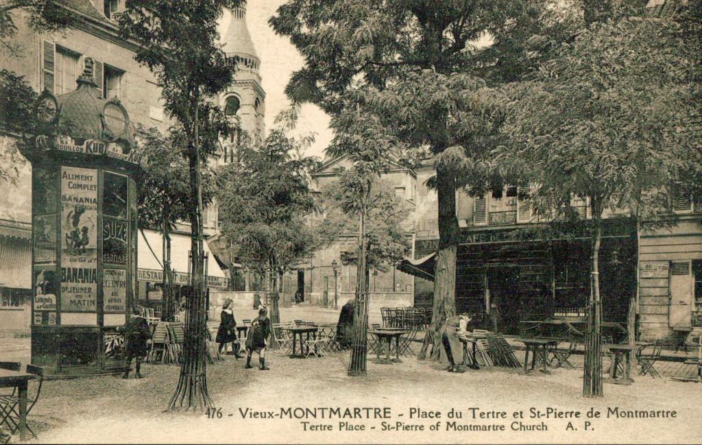 Vieux Montmartre - La place du tertre en 1920.