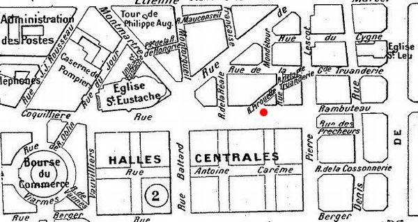 Le quartier des halles en 1900.