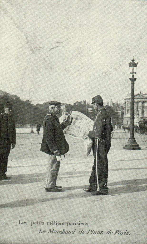 Les petits métiers Parisiens - Marchand de plans de Paris.