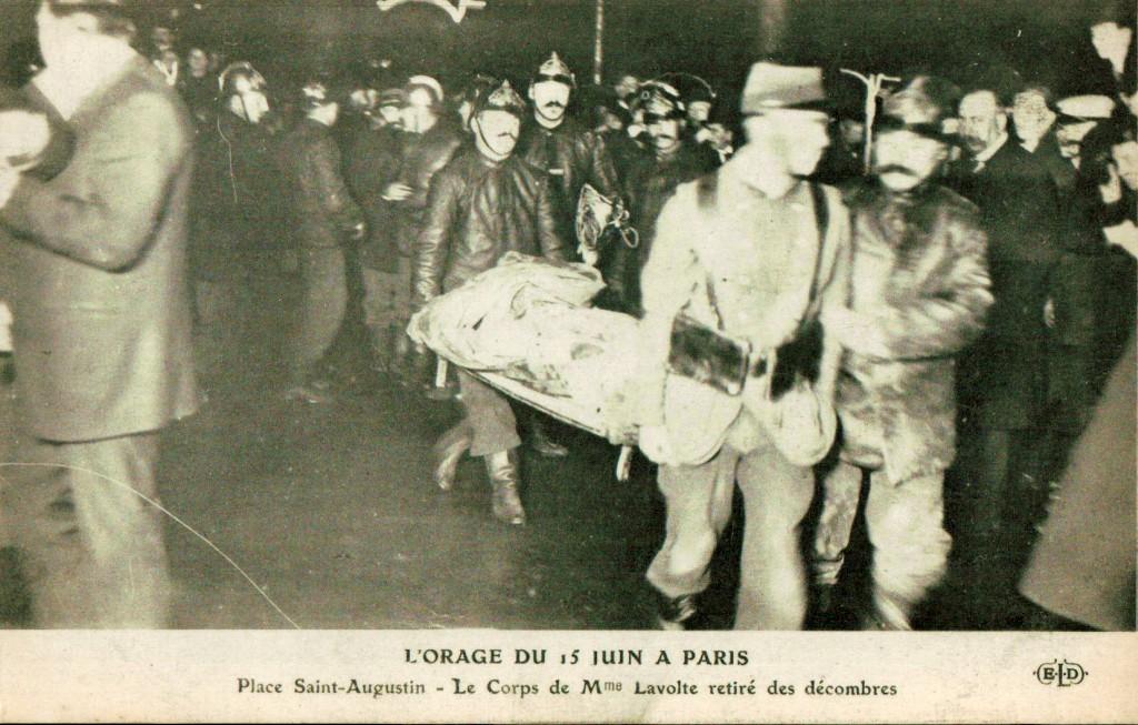 Orage du 15 juin 1914 - Place Saint Augustin.