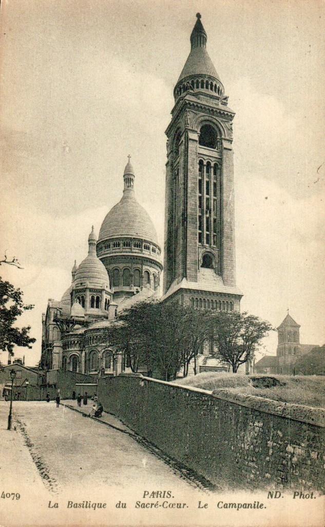 Le campanile du Sacré-Coeur de Montmartre.