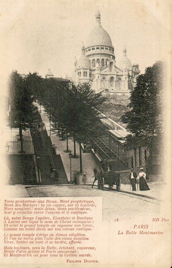 Le funiculaire qui monte a la basilique du Sacré-Coeur.