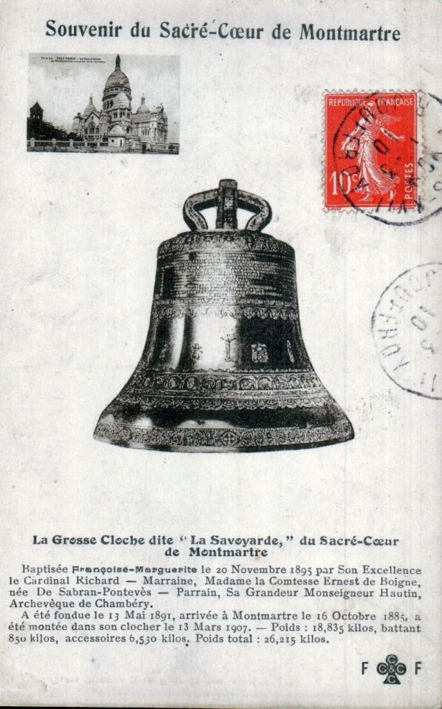 La Savoyarde cloche de la basilique du Sacré-Coeur.