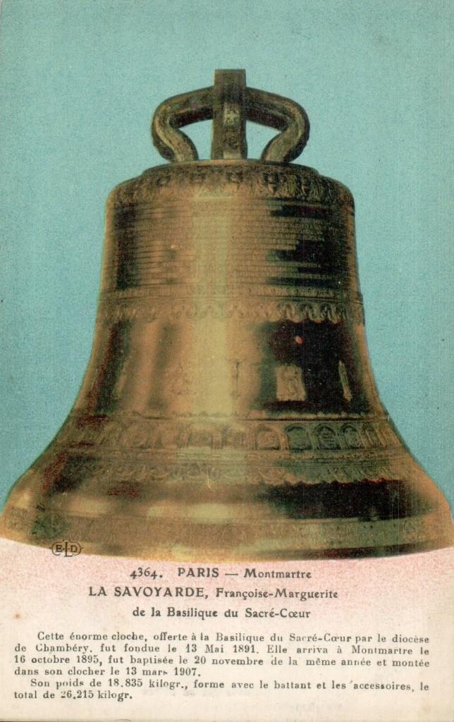Carte postale de la grosse cloche la Savoyarde.