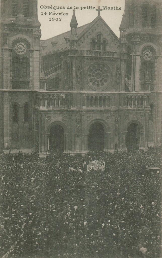 Les obsèques de Marthe Erbelding.