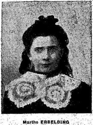 Portrait d'une fillette assassinée: Marthe Erbelding.