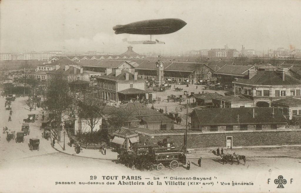 Vue générale des abattoirs de la Villette.