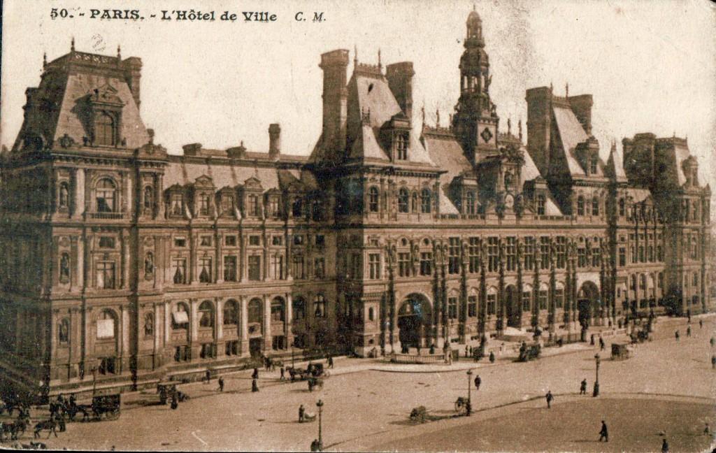 La Place de L Hôtel de ville de Paris au début du XXème siècle.