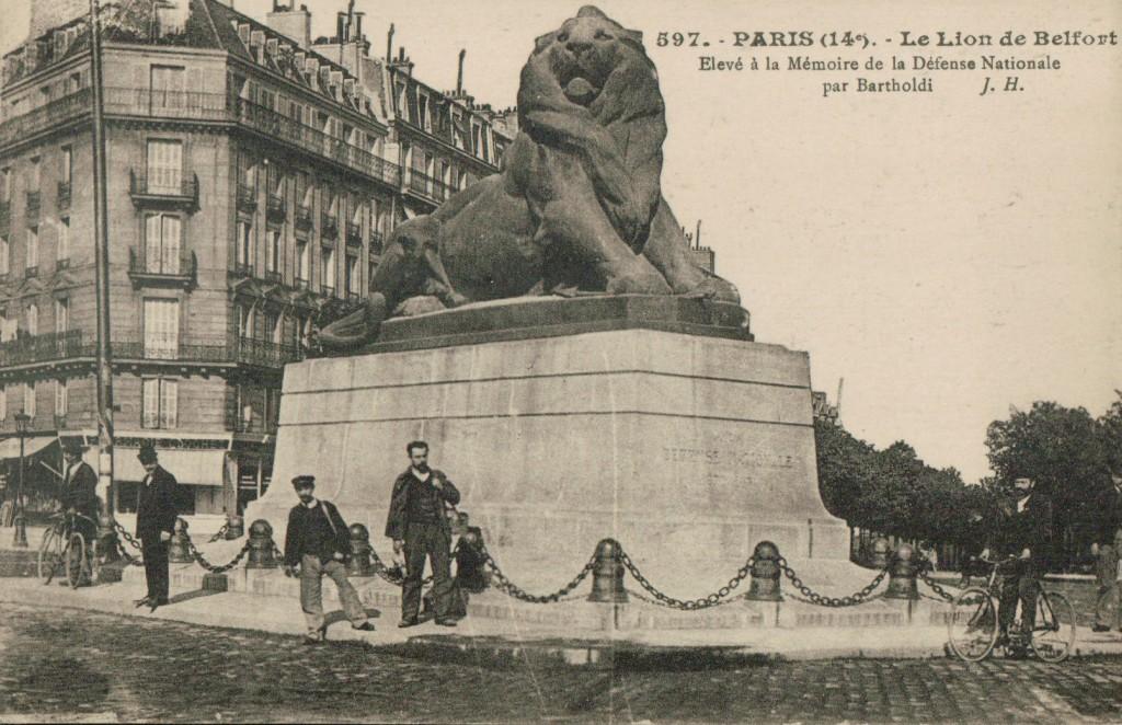 Le Lion de Belfort. Elevé à la mémoire de la défense nationale par Bartholdi.