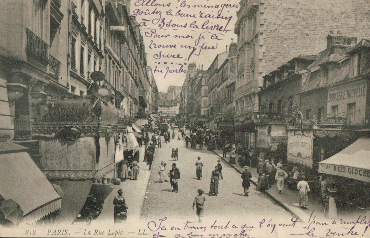 Carte postale Paris - Rue Lépic. 18ème.