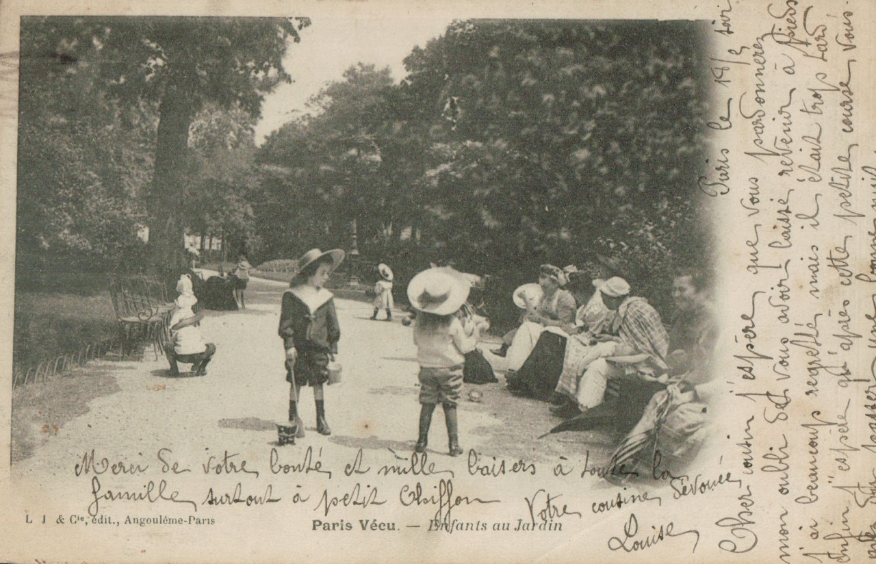 Printemps citadin paris 1900 for Au jardin paris
