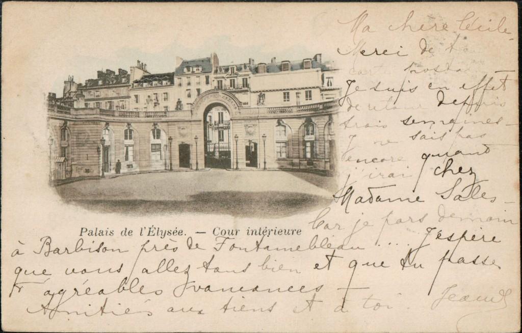 Cour intérieure du Palais de L'Elysée.