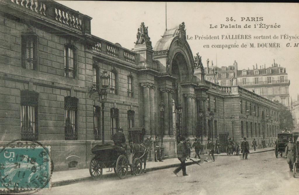Façade du palais de l'Élysée.