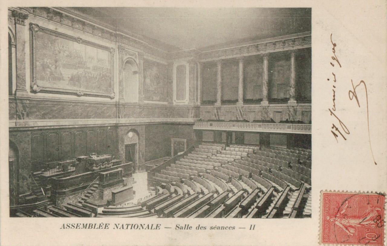 Salle des séances de l Assemblée nationale - Hémicycle.