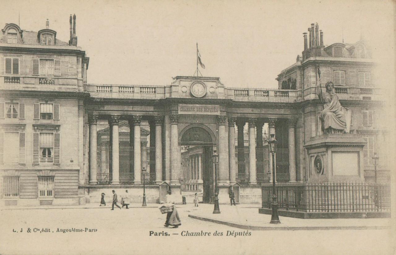 Paris - La chambre des députés Entrée.