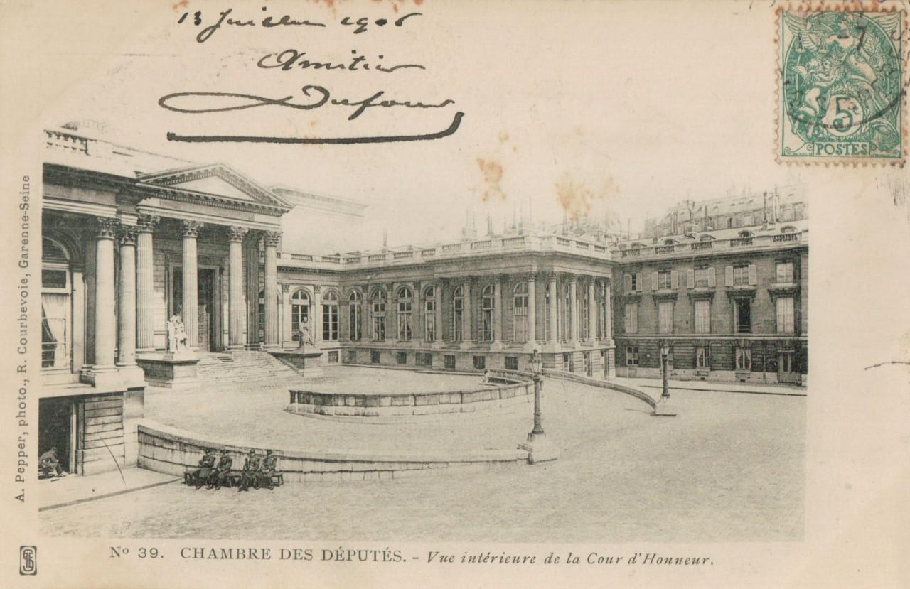 La chambre des députés - Cour intérieure.