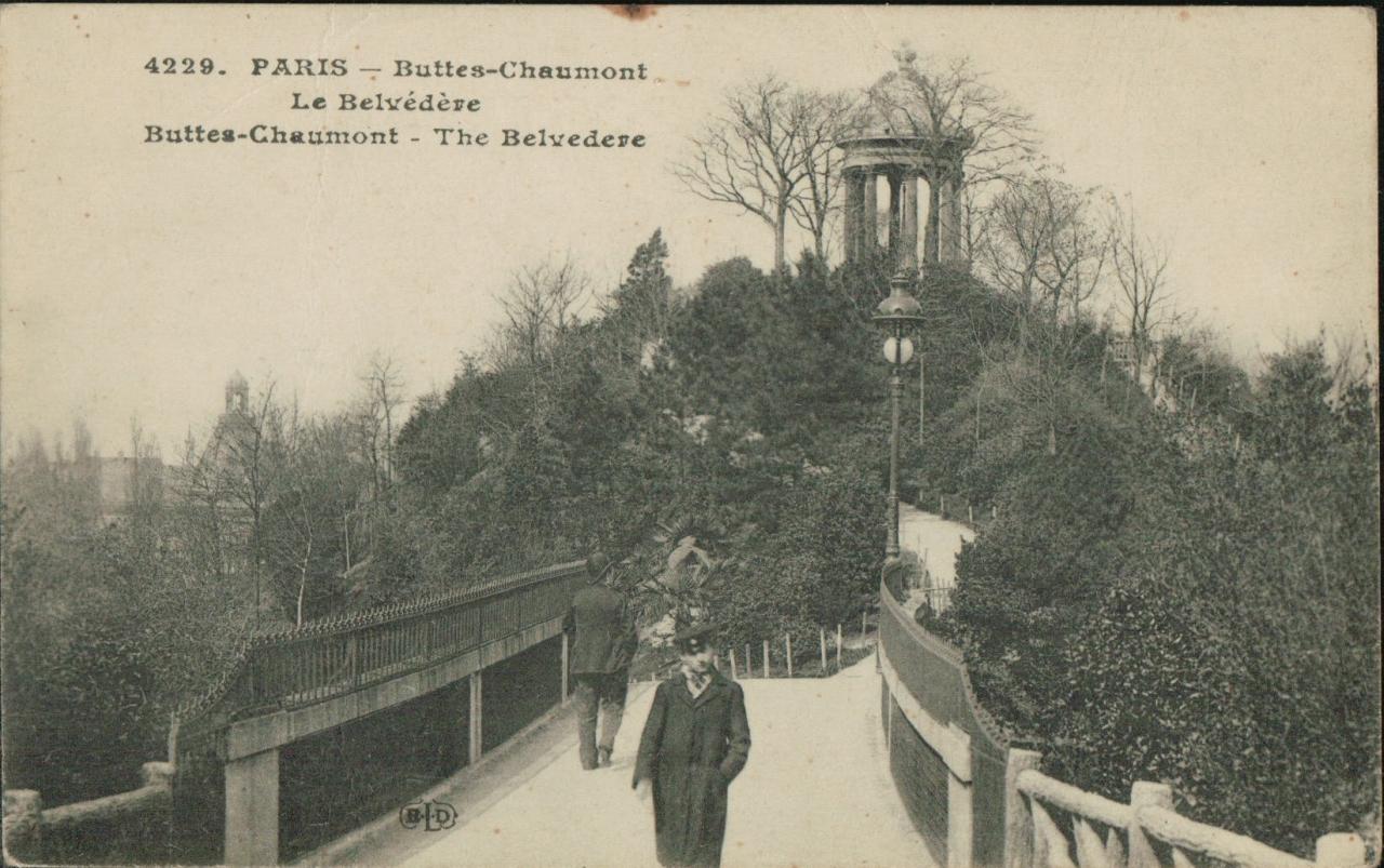 Paris parc des Buttes Chaumont - Le Belvedere