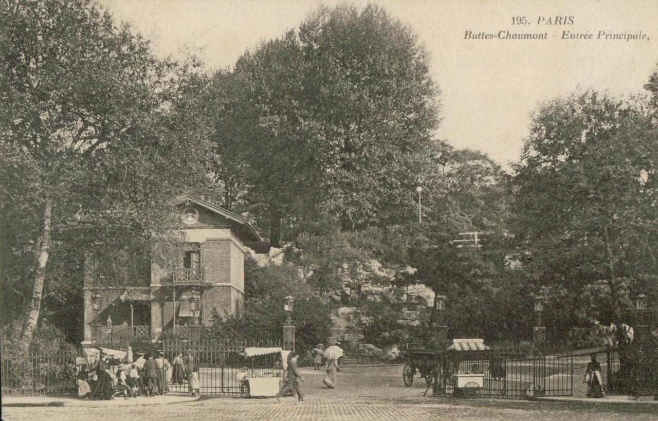 Paris – Buttes Chaumont - Entrée principale.